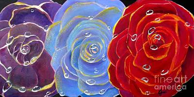 Painting - Rose Medley by Karen Jane Jones