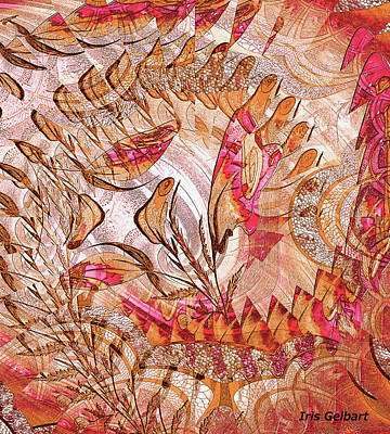 Digital Art - Rose Melody by Iris Gelbart