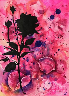Painting - Rose Memories 2 by Zaira Dzhaubaeva