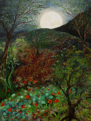 Painting - Rose Moon by FT McKinstry