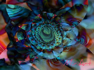 Art Print featuring the photograph Rose Motif by Miriam Shaw