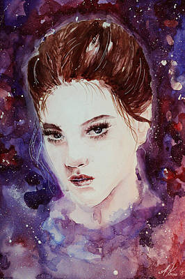 Painting - Rose Nebulae  by Alexandra-Emily Kokova