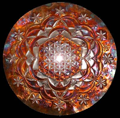 Sculpture - Rose Of Life Copper Lightmandala by Robert Thalmeier