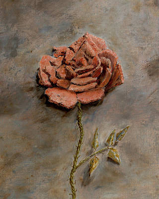 Regeneration Painting - Rose Of Regeneration - Small by Kathryn Bell