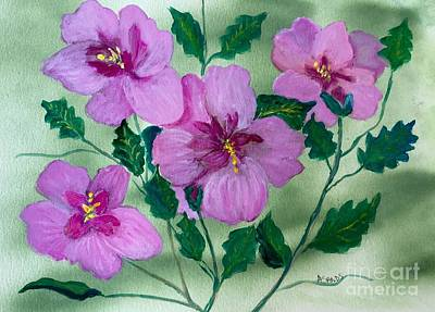Rose Of Sharon Painting - Rose Of Sharon Delight by Anne Sands