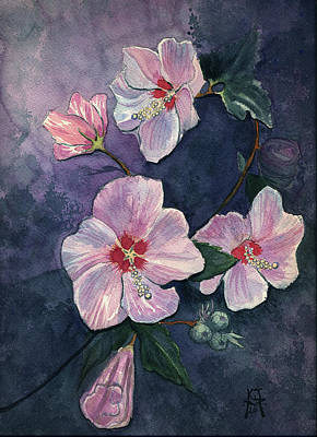 Rose Of Sharon Art Print by Katherine Miller
