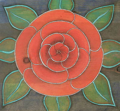 Mixed Media - Rose On Wood by Michele Bullock