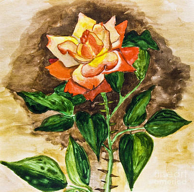 Painting - Rose, Painting by Irina Afonskaya