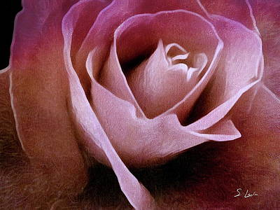 Photograph - Rose Painting by S Art