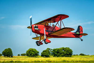 Photograph - Rose Parakeet Biplane by James Barber