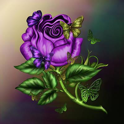 Rose Party Art Print