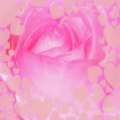 Rose Pastel Soft Sorbet 4 Art Print by Mona Stut