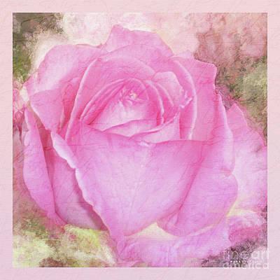 A Rose Pastel Soft Sorbet 2 Art Print by Mona Stut