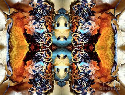 Mixed Media - Rose Petal Patterns by Jolanta Anna Karolska