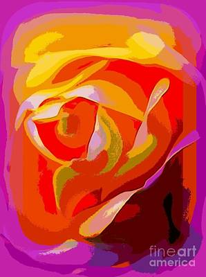 Photograph - Rose Petals by Ed Weidman