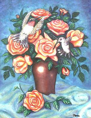 Pet Painting - Rose Play by Linda Mears