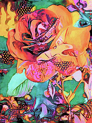 Pineapple - Rose Psychedelia by Susan Maxwell Schmidt