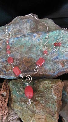 Jewelry - Rose Quartz #s66 by Barbara Prestridge