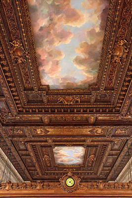 Photograph - Rose Reading Room Ceiling by Jessica Jenney