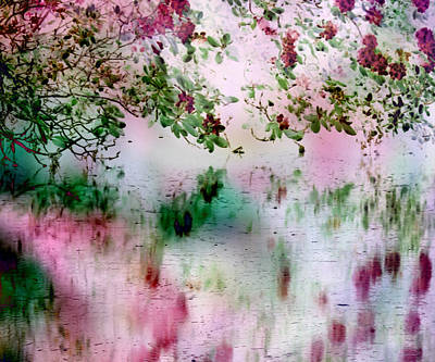 Digital Art - Rose Reflections by Michele A Loftus