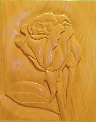 Rose Relief Print by Russell Ellingsworth