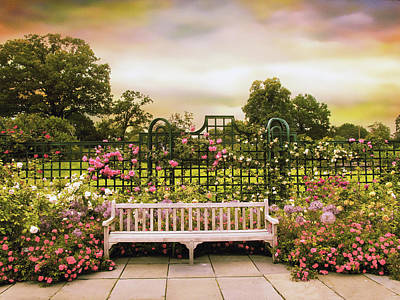 Seating Photograph - Rose Respite by Jessica Jenney