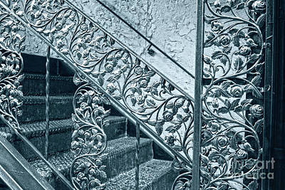 Photograph - Rose Rod Iron Railing by Sandy Moulder