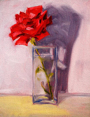 Painting - Rose Shadow by Nancy Merkle