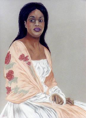 Pastel - Rose Shawl by Jan Amiss