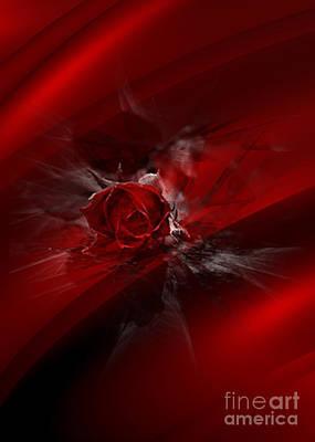 Digital Art - Rose Silk by Serena Ballard