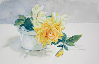 Classic Painting - Rose Still Life by Christopher Reid