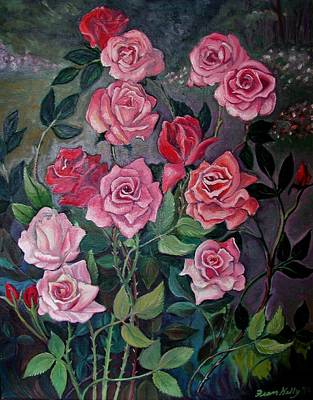 Painting - Rose Tangle by Fran Kelly