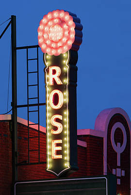 Photograph - Rose Theater Fort Worth V3 04117 by Rospotte Photography