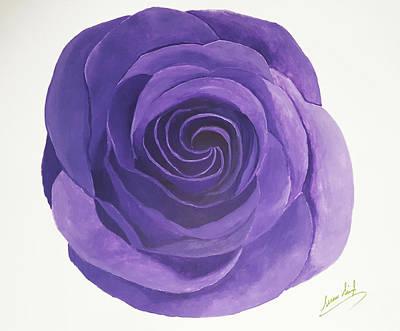 Painting - Rose Three by Seenu Singh