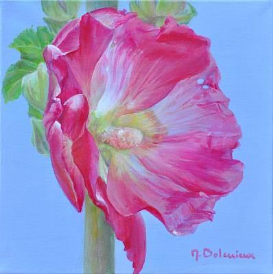 Rose Tremiere Art Print by Muriel Dolemieux