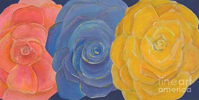 Painting - Rose Trio by Karen Jane Jones