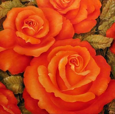 Impresionist Painting - Rose by Vali Irina Ciobanu