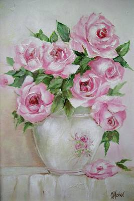 Rose Vase Art Print by Chris Hobel