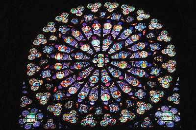 Photograph - Rose Window Of Notre Dame Paris by Jacqueline M Lewis