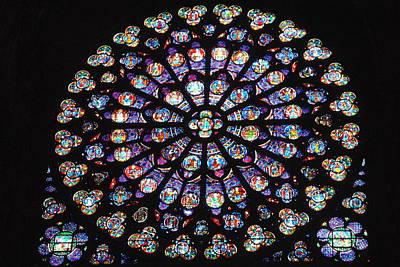 Rose Window Of Notre Dame Paris Art Print by Jacqueline M Lewis