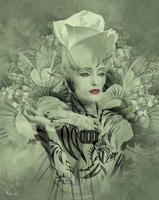 Digital Art - Rose Witch by Ali Oppy