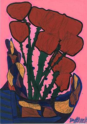 Drawing - Rosebed by Darrell Black