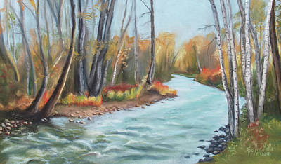Rosebud Drawing - Rosebud Creek, Montana by Faythe Mills