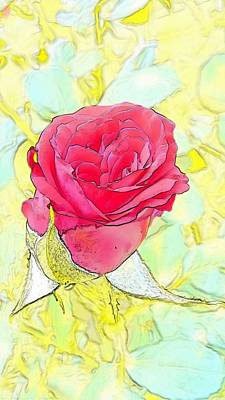 Digital Art - Rosebud by Kumiko Izumi