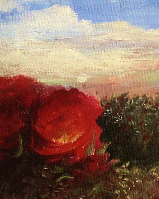 Rosebush Art Print by Mary Ellen Frazee