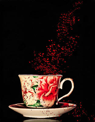 Painting - Rosehip Tea Art by Georgiana Romanovna