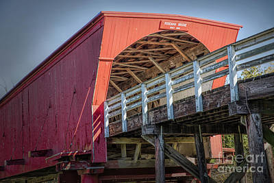 Photograph - Roseman Covered Bridge by Lynn Sprowl