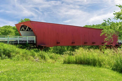 Photograph - Roseman Covered Bridge Madison County Iowa  -  Oil1 by Frank J Benz