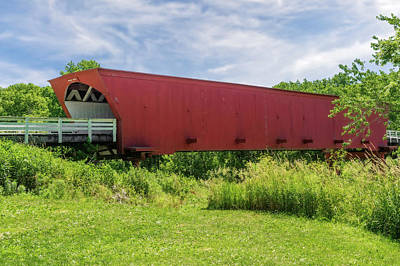 Photograph - Roseman Covered Bridge Madison County Iowa  -  Std1 by Frank J Benz