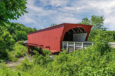 Photograph - Roseman Covered Bridge Madison County Iowa  -  Std3 by Frank J Benz